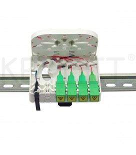 FTTh indoor box 4 ports with splicing tray
