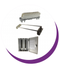 Telephony modules and mounting parts