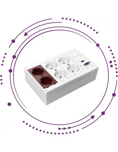 Cajas de pared/suelo para mecanismos configurable