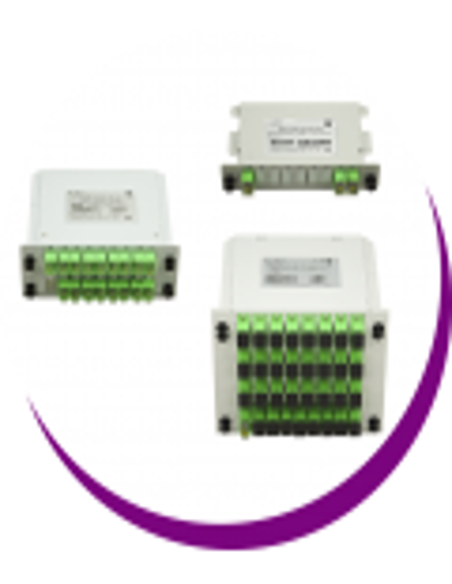Repartidores PLC en cassette con puertos SC