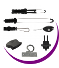 Cable holders for aerial installation and accesories