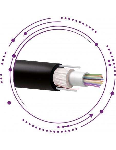 SM Fibras holgadas monotubo Pe con tensores-Exterior