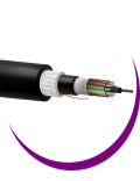 SM fibra holgada multitubo doble cubierta PE exterior negra