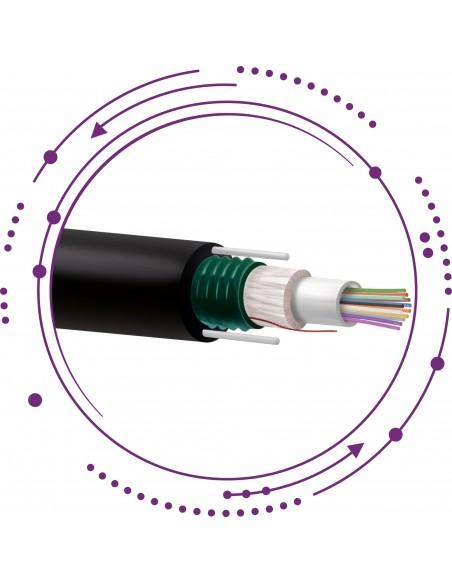 F6-Cables Fibra SM Holgada Monotubo corrugado acero PE -Exterior-