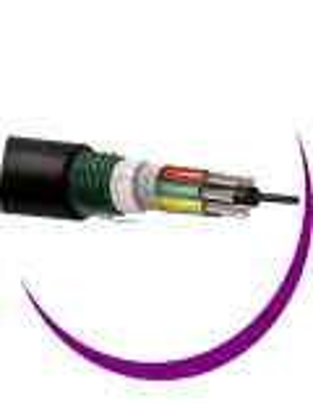 F7-Cables Fibra SM Holgada Multitubo corrugado acero PE -Exterior-