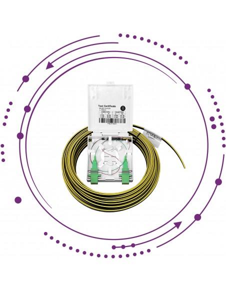 KIT-PT Pigtail 2 Fibras CPR-Dca, roseta y 2 adapt SC/APC -Interior-