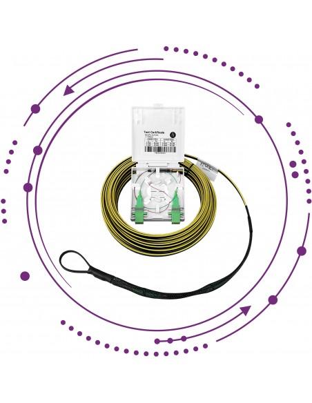 KIT-LAT Latiguillo 2 fibras CPR-Dca, roseta y 2 adapt SC/APC con Safetrack -Interior-