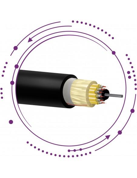 F60CD- Cables fibras 3mm interior SM G657A2 breakout armados