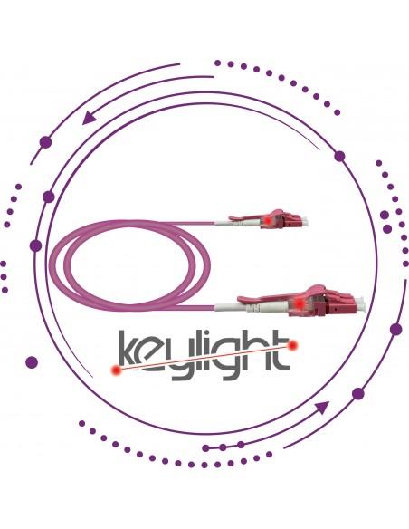 "Latiguillos/Patchcords ""KeyLight"" LC Duplex MM OM4"