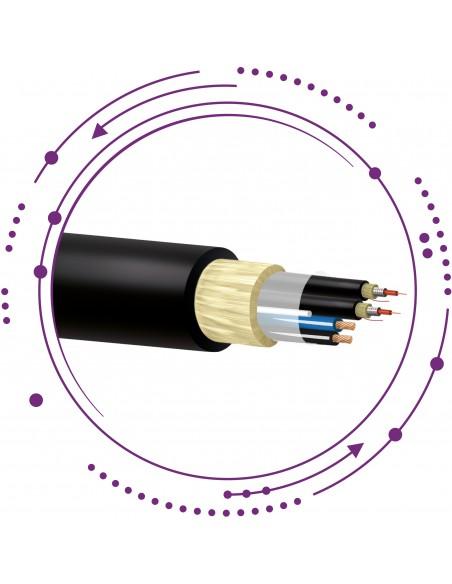Cable fibra híbrido cable eléctrico SM ajustada armadura metálica