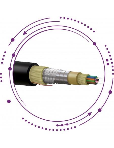 Cable fibra SM ajustada armadura metálica